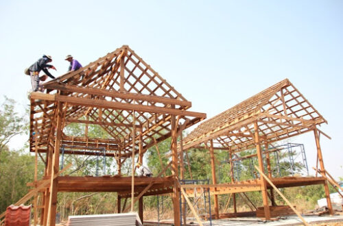 องค์ประกอบ โครงสร้างบ้านไม้