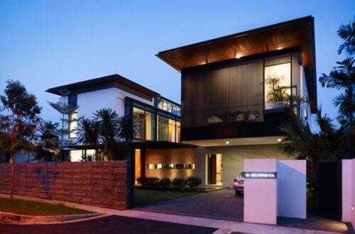 modern twin house