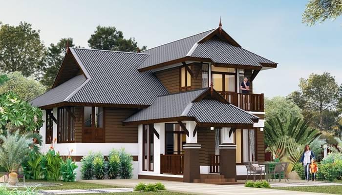 Half-storey house in Thai style